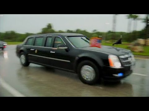 President Obama arrives at CENTCOM