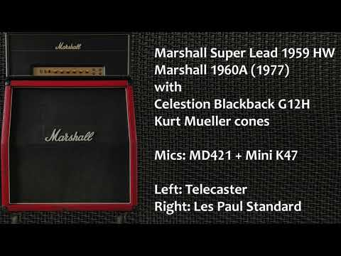 What is the best Marshall cabinet & speaker? Comparison of four cabs.