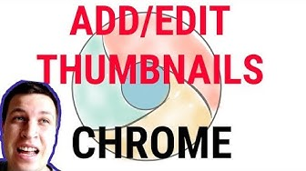 💻CHROME - add website to most visited THUMBNAILS!