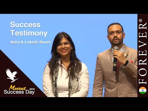 Business Testimony by Asha & Lokesh Swami at Meerut Success Day