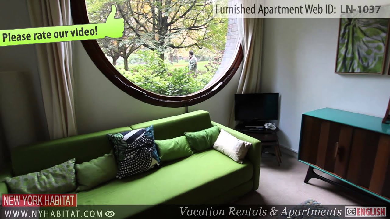 video tour of a furnished studio apartment in barbican london