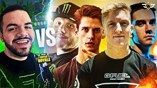 COURAGE VS TIMTHETATMAN, TFUE, 72HRS & NATE HILL! INSANE RIVALRY! (Fortnite: Battle Royale)