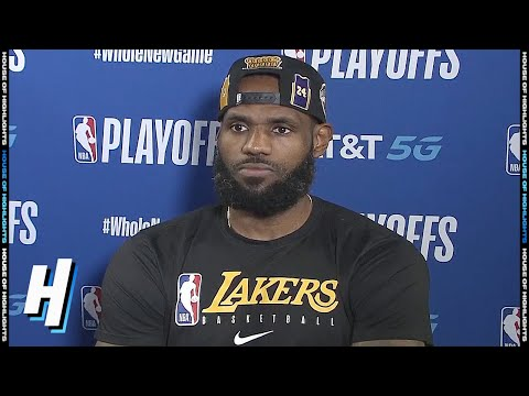 Anthony Davis Postgame Interview Game 5 Blazers Vs Lakers August 29 2020 Nba Playoffs
