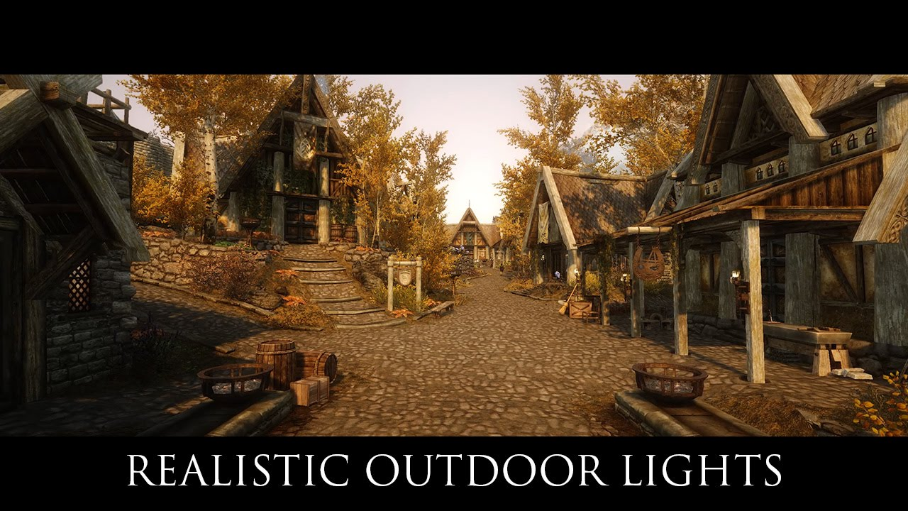 tes v skyrim mods immersive content realistic outdoor lights