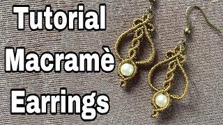 Tutorial Macramè Small Dangle Earrings
