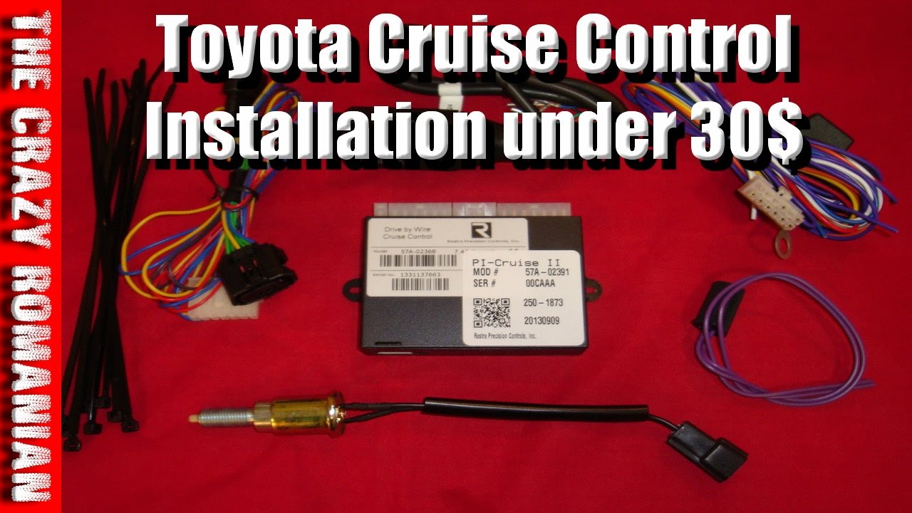 how to install cruise control for 30 toyota yaris  [ 1280 x 720 Pixel ]