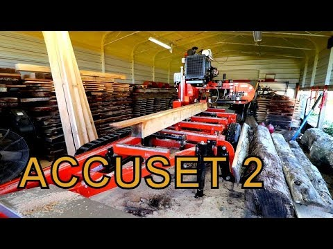 IF YOU ARE LOOKING TO BUY A SAWMILL WATCH THIS VIDEO, WOOD-MIZER ACCUSET 2 AT WORK