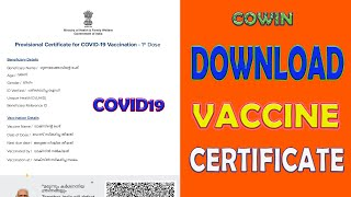 How to Download COVID-19 Vaccine Certificate Using CoWIN Website| covid vaccine certificate download screenshot 5