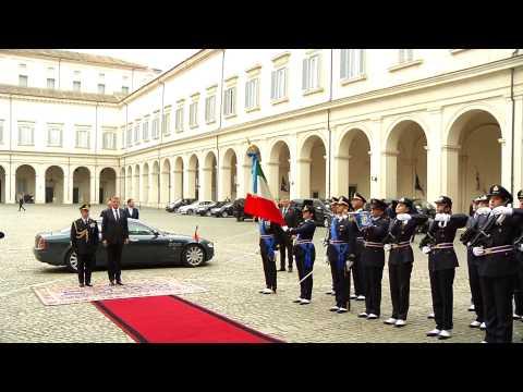 Klaus Iohannis, sosire în vizita oficiala din Italia