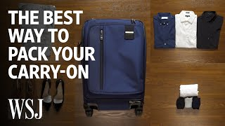 Expert Butler Explains the Best Way to Pack Your Carry-On Bag | WSJ