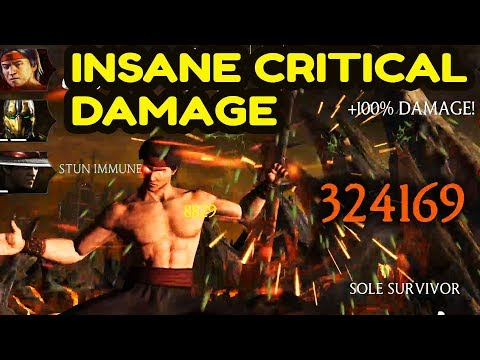 MKX Mobile. BEST CRITICAL TEAM! You Have To See This Damage! thumbnail