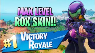 Max Level Rox Skin!! 9 Elims!! - Fortnite: Battle Royale Gameplay