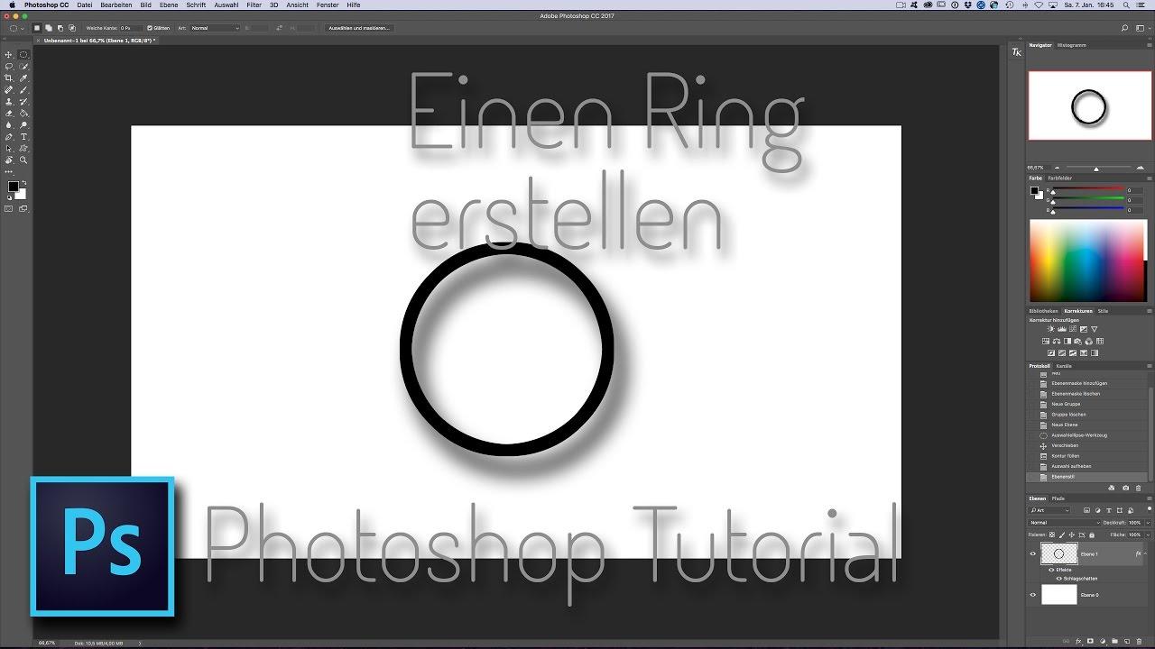 wie man einen ring in photoshop erstellt youtube eule vektorgrafik bagger vektor