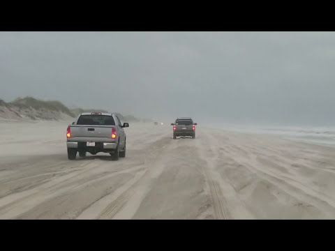 Arriving at Carova 4x4 beach at the tail end of a storm. Corolla NC, OBX