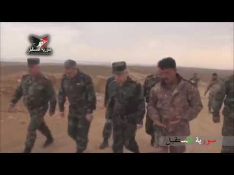 Head of Staff of the Syrian Army and Colonel Suhail al-Hassan tour al-Shaer petroleum