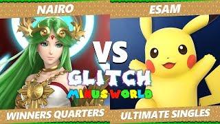 Glitch 7 SSBU - NRG Nairo (Palutena) VS PG ESAM (Pikachu) Smash Ultimate Winners Quarters