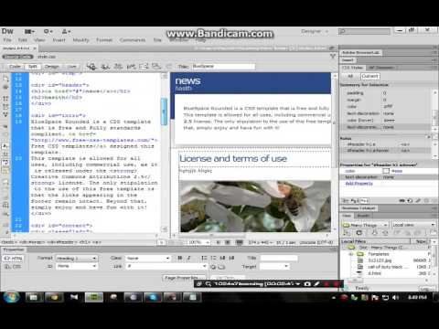 How to edit a template using adobe dreamweaver cs6 youtube for Templates for dreamweaver cs6