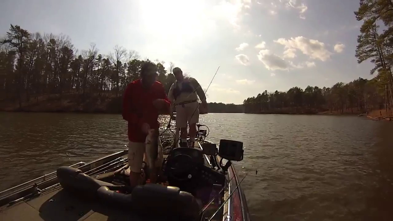 Late winter bass fishing on falls lake nc youtube for Falls lake fishing