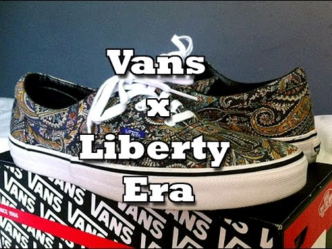 bea67605703148 Vans x Liberty Era (Grey Paisley) Review - YouTube