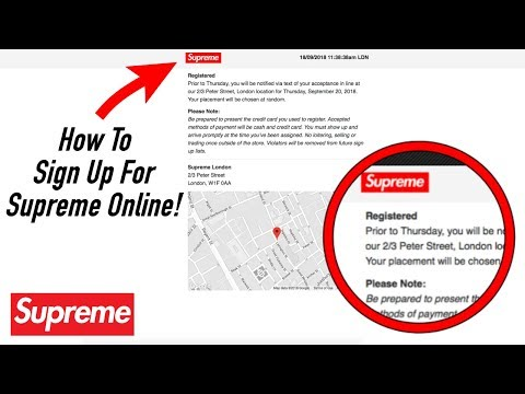 How To: Sign Up Online For The Supreme London Store! ( Supreme Thursday Drops )