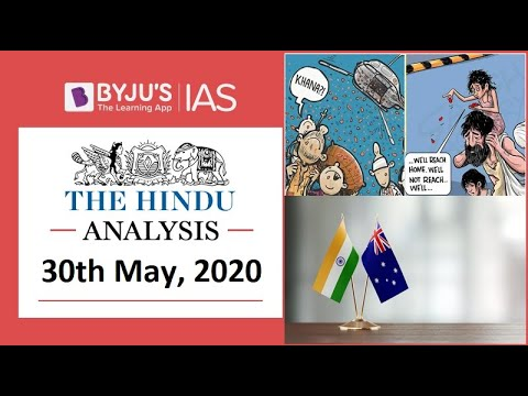 'The Hindu' Analysis For 30th May, 2020. (Current Affairs For UPSC/IAS)