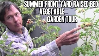 Summer Front Yard Raised Bed Vegetable Garden Tour