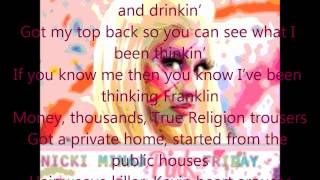 Nicki Minaj ft. 2 Chainz - Beez In The Trap (Clean Version, Lyrics)