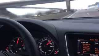 Audi Q5 3.0 TDI Autobahn Highway Germany normal drive