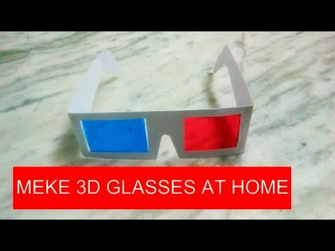 HOW TO MAKE 3D GLASSES AT HOME