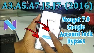Samsung SM-J7,J5 (2016) Google Account lock Bypass Nougat 7.0 Remove/Delete/ All Samsung FRP Lock