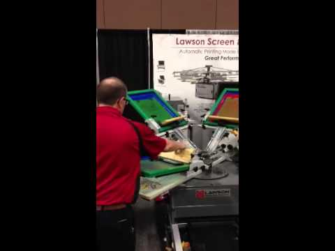 Brian Screen Printing With The Lawson Twin Express Combo Press