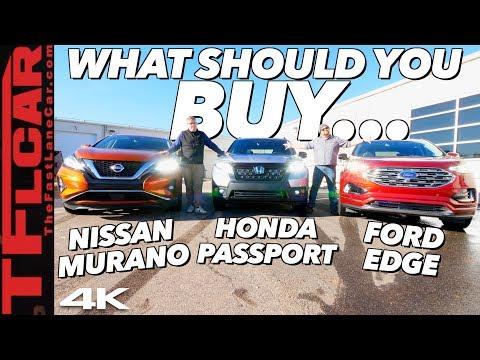 Honda Passport vs Ford Edge vs Nissan Murano: Which Family Crossover Should You Buy?