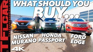 Honda Passport vs Ford Edge vs Nissan Murano: Which Family Crossover Should You Buy?