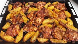 En Hızlı Ana Yemek Fırında Patatesli Tavuk Tarifi, Kolay Fırında Tavuk Tarifi