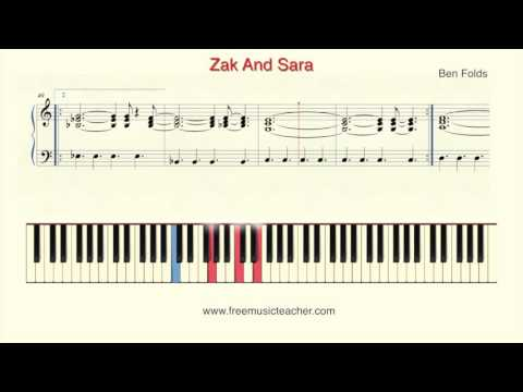 "How To Play Piano: Ben Folds ""Zak And Sara"""