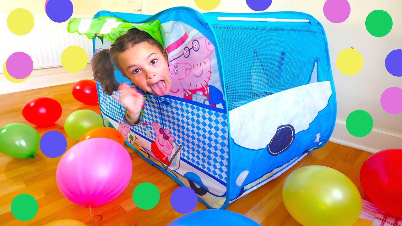 Peppa Pig C&er Van Huge Surprise Tent Balloons Peppa Toys and Paw Patrol Baby Alive Toy Doll - YouTube  sc 1 st  YouTube & Peppa Pig Camper Van Huge Surprise Tent: Balloons Peppa Toys and ...