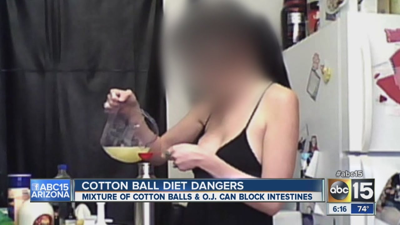 Cotton ball diet A dangerous fad that can kill you!