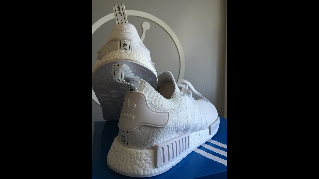 2e13c0cff5c1c adidas NMD R1 Primeknit White Unboxing   Review - YouTube