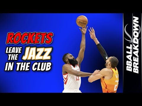 Houston ROCKETS Leave The JAZZ Back At The Club in Game 3