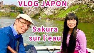 VLOG JAPON #28 BEST SAKURA SPOT, challenge timing, 360 fails, BEST hanami sur bateau! Chidorigafuchi