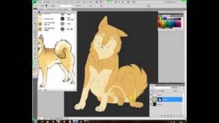 Speedpaint Spitz Hund