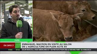 Emmanuel Macron au salon de l'agriculture en marge de l'acte XV des Gilets jaunes