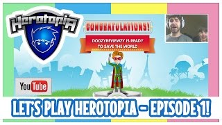 Let's Play Herotopia With Chip and Bubbles - Episode 01 - Fun Kids MMORPG Video Game