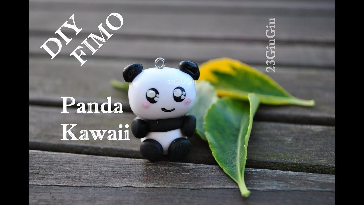 tuto fimo le panda kawaii