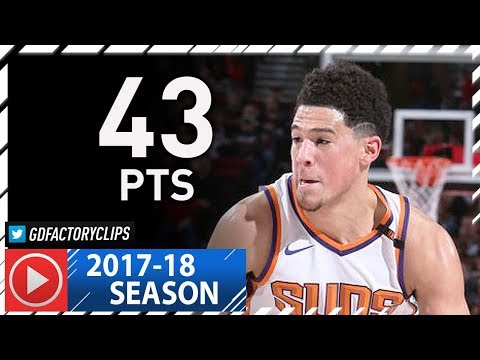 Devin Booker Full Highlights vs Trail Blazers (2018.01.16) - 43 Pts, 8 Ast, 6 Reb