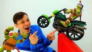 #ЧерепашкиНИНДЗЯ и Фёдор строят Супер ГАРАЖ! Видео с игрушками #Ниндзя #длямальчиков Игры строить