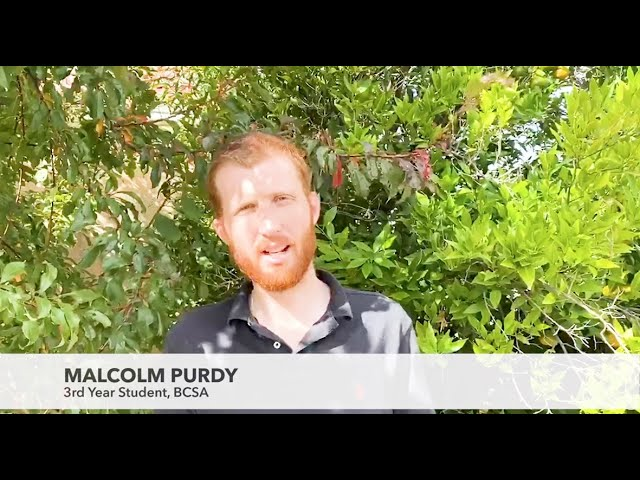 Studying at BCSA  I  Malcolm Purdy
