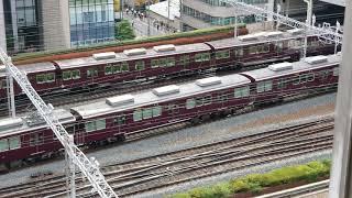 20180806 082445 新阪急ホテルアネックスより阪急梅田駅の朝のラッシュ