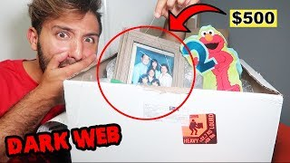 I BOUGHT A MYSTERY BOX FROM THE DARK WEB & WHAT I FOUND INSIDE MIGHT SCARE YOU (DEEP WEB CHALLENGE)