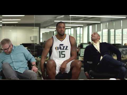 Chair Wars - Derrick Favors of the Utah Jazz Gets Ultra Competitive